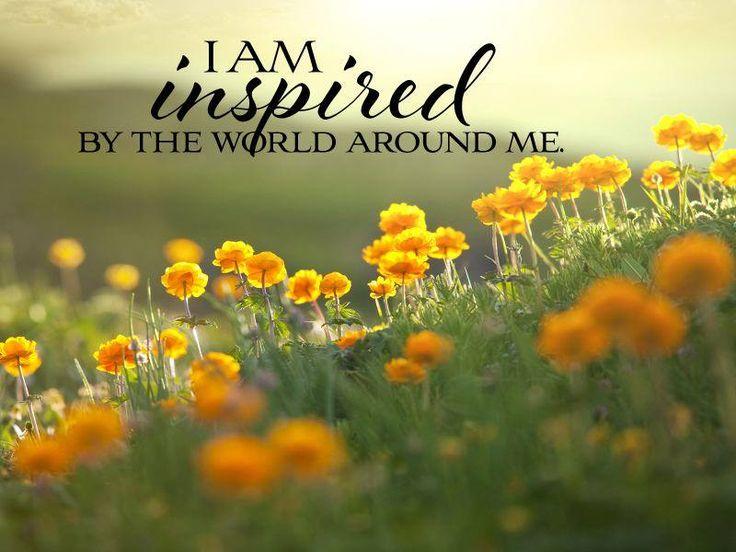 Mi faccio ispirare dal mondo che mi circonda