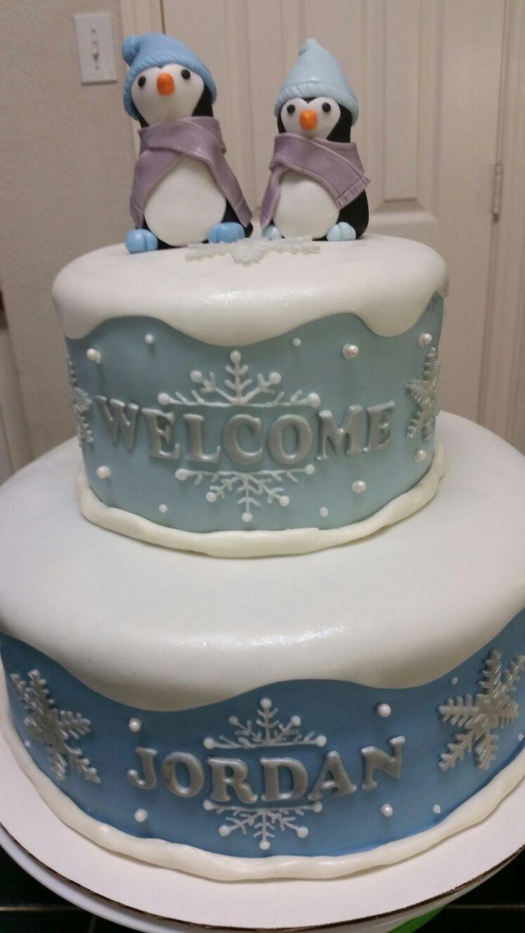 Amyu0027s Crazy Cakes   Baby Shower Penguin Cake