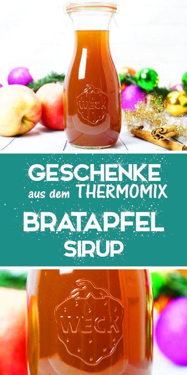 Bratapfel Sirup, schnell und einfaches Thermomix Rezept. Geschenke aus der Küche.