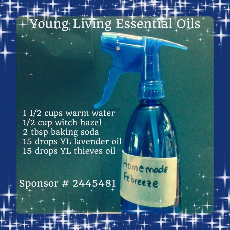 Young Living Essential Oils Homemade Febreze www.youngliving.org Sponsor # 2445481
