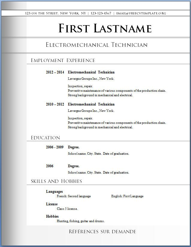 11 best Free Downloadable Resume Templates images on Pinterest - free resume word templates