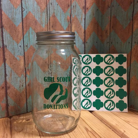 Girl Scout Donation Jar Girl Scouts Girl by TheBluHummingbird