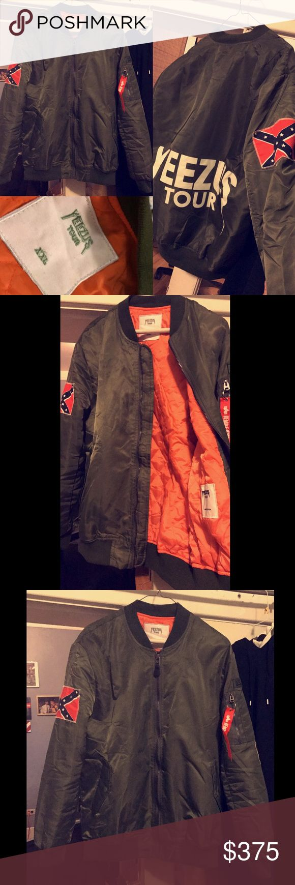Yeezus Tour Kanye Yeezy Bomber Jacket Brand new, didn't fit when I got it in the mail so it's never been worn out 10/10 condition. Size tag says XXL but fits like a L-XL. Really great Jacket wish I didn't have to sell it. Asking $375 OBO any ?'s comment below or txt me! 4808089979 All Love <3 Yeezy Jackets & Coats Bomber & Varsity