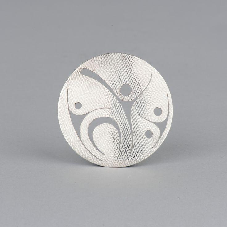 Foam Woman pendant in sterling silver by Haida artist Marcel Russ