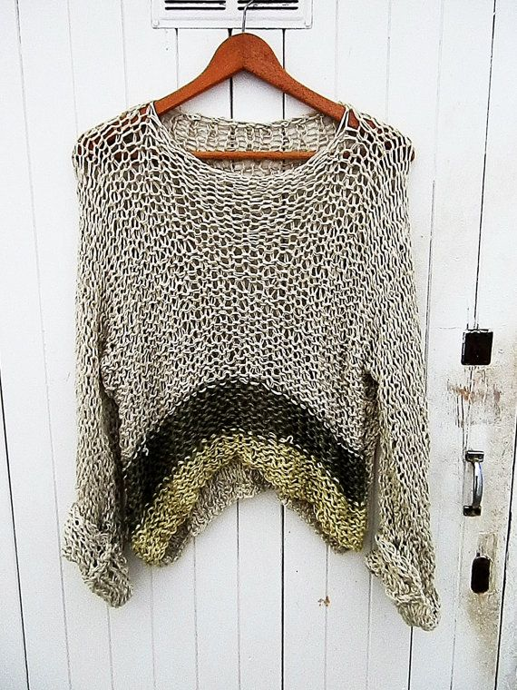Loose Knitting Patterns : Best 25+ Loose knit sweaters ideas on Pinterest Knit sweaters, Tejidos and ...