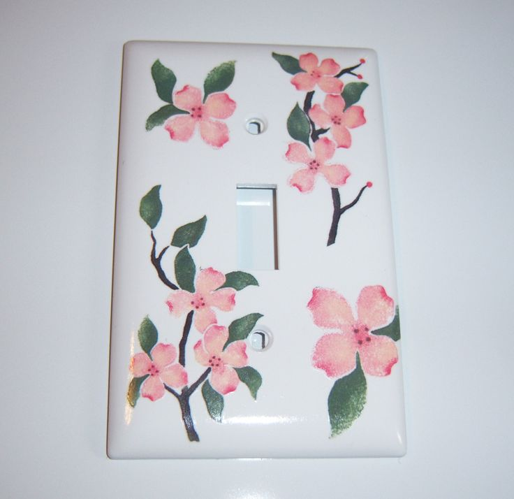 Pink Dogwoods - single light switch cover by MoanasUniqueDesigns on Etsy