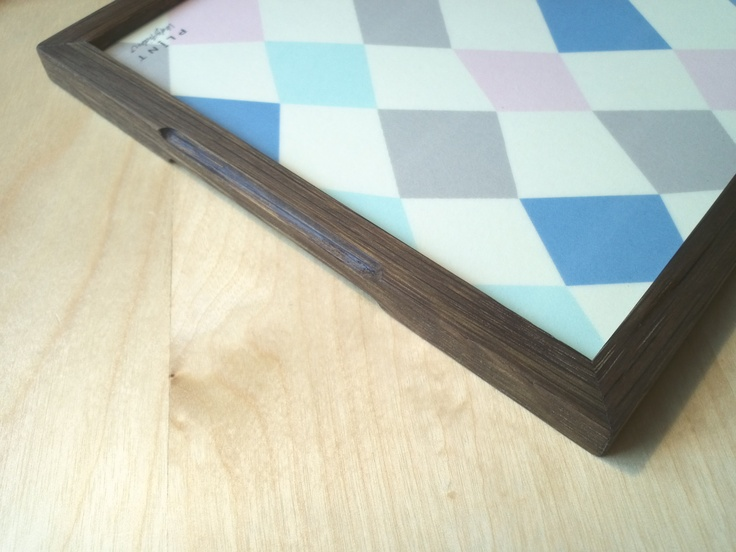 Serving tray (smoked oak)