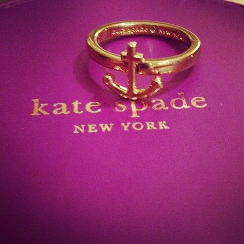 Anchor ring @Laurel Bickford: Anchor Rings, Fashion, Spade Anchor, Anchors 3, Accessories, Kate Spade, Katespade