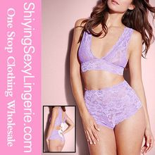 Wholesale Sexy Hot Violet Lace High-waisted Bralette Set Best buy follow this link http://shopingayo.space