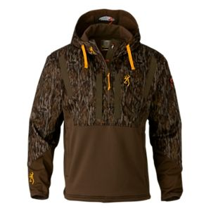 Browning Wicked Wing Timber Soft Shell Hoodie for Men - Mossy Oak Bottomland - 3XL