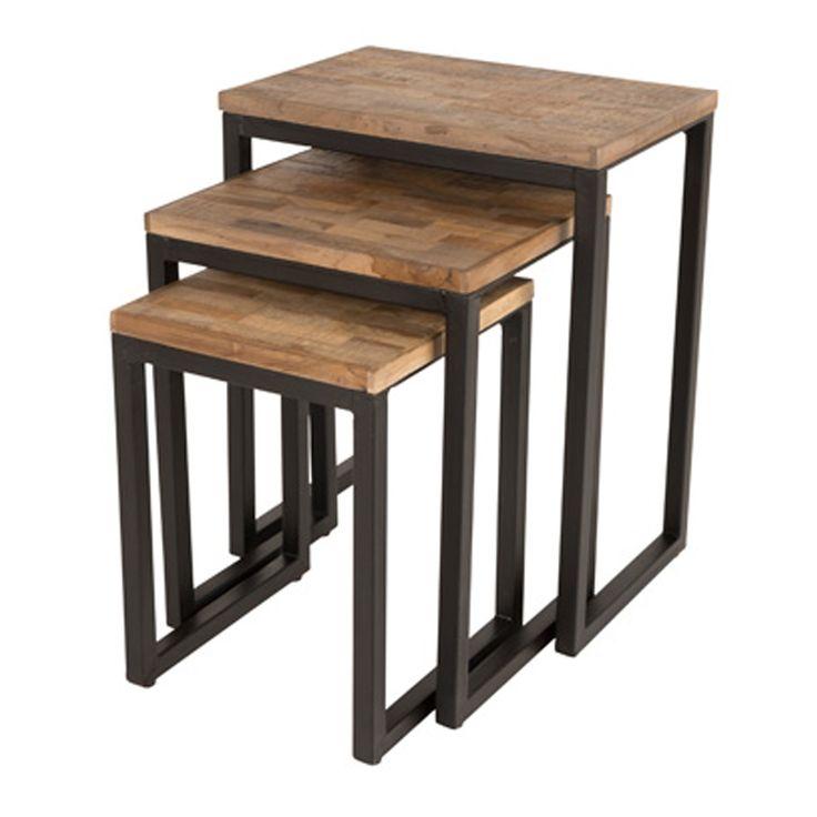 de suri tafel heeft een industrile uitstraling door de strakke afwerking en de combinatie van materialen - Fantastisch Einrichtungsstile 2015