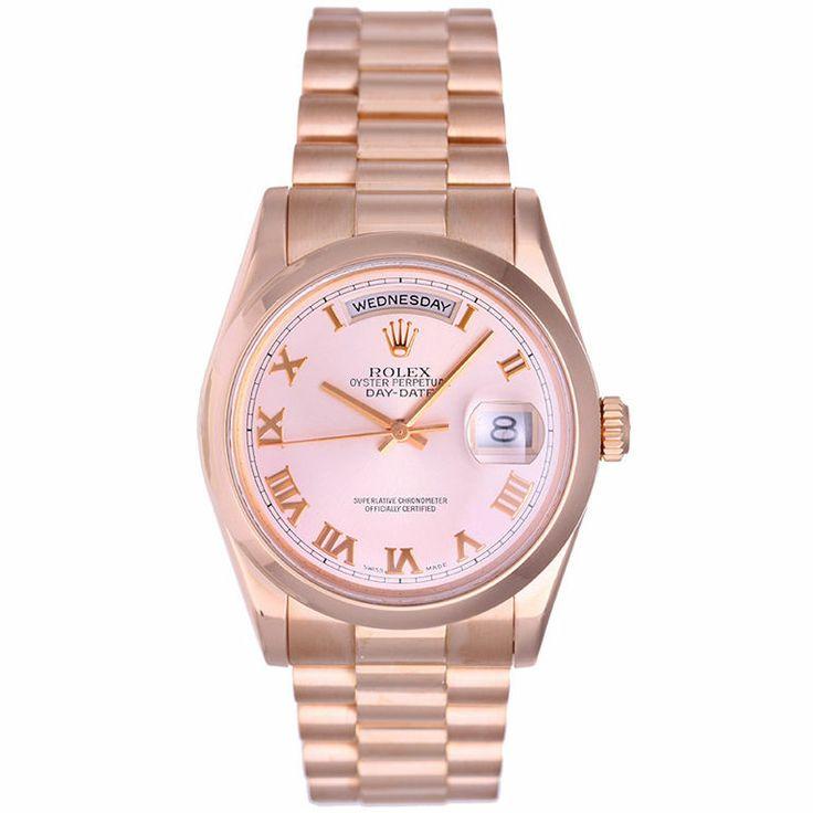 Men's Rose Gold Rolex President Day-Date Watch 118205 swooooooooooooooon <3