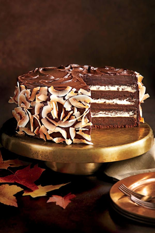 September 2016 Recipes: Chocolate-Coconut Layer Cake