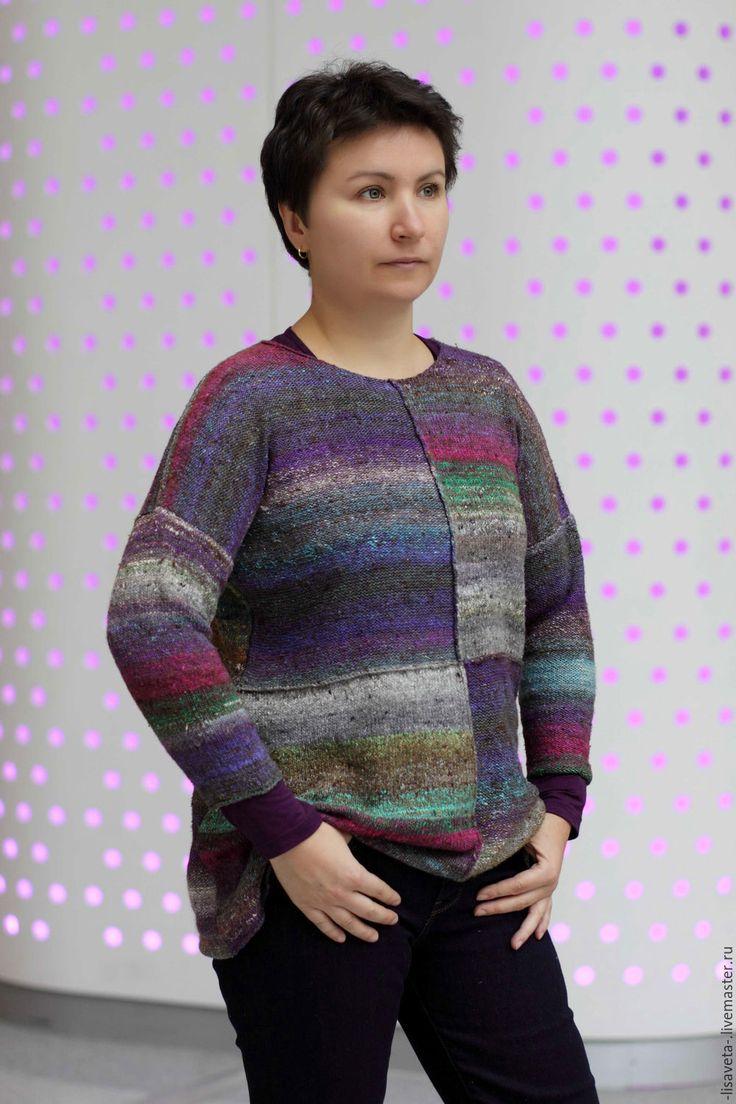 Купить Женский свитер. Простая вещь№2 - комбинированный, норо, noro, женский свитер, подарок девушке
