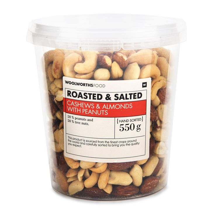 Roasted & Salted Assorted Nuts With Peanuts 550g