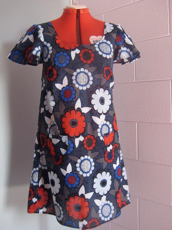 Flutter Sleeve Dress. $60.00, via Etsy.