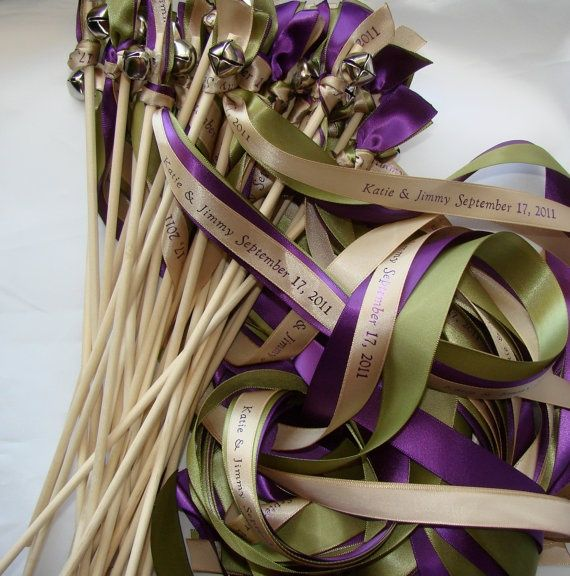 Give your guest something to wave about...Personalized ribbons & bells