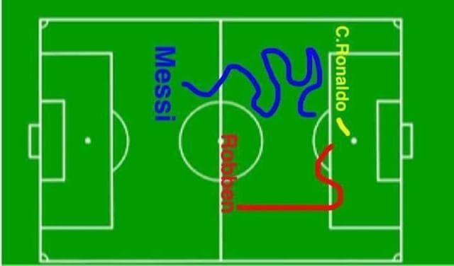 Leo Messi Cristiano Ronaldo & Arjen Robben  #football #footballmemes #soccer #soccermemes #futbol #footballmemesco