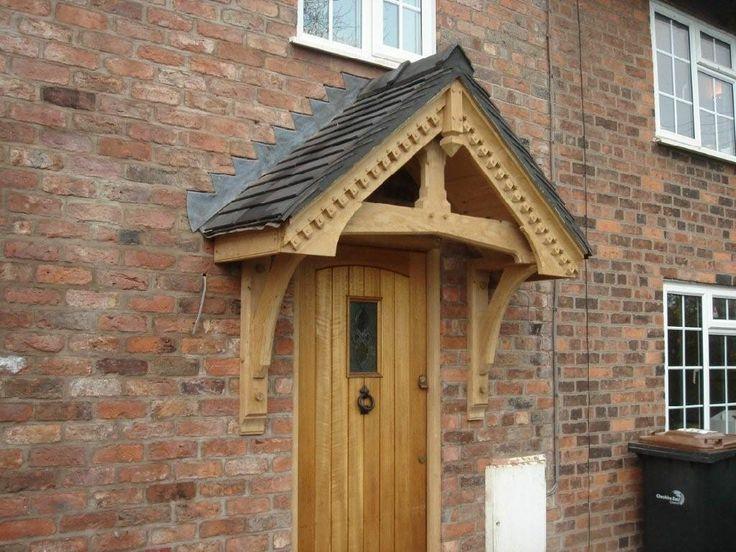 Green Oak door canopy kit 1760mm wide (2)