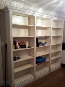 bookcase study area buildout/customization using prefab units from Ikea