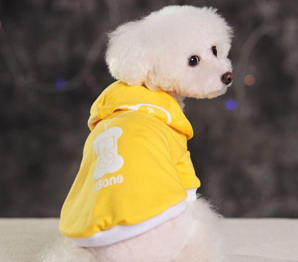 Camisolas de casacos colete Pet dog hoodies de quatro S M L XL preto alishoppbrasil