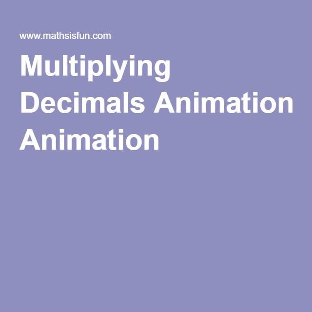 Multiplying Decimals Animation