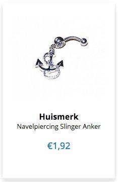 1,92 Navelpiercing Slinger Anker www.ovstore.nl/nl/navelpiercing-slinger-anker.html