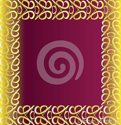 #vintage #golden #border on a purple background