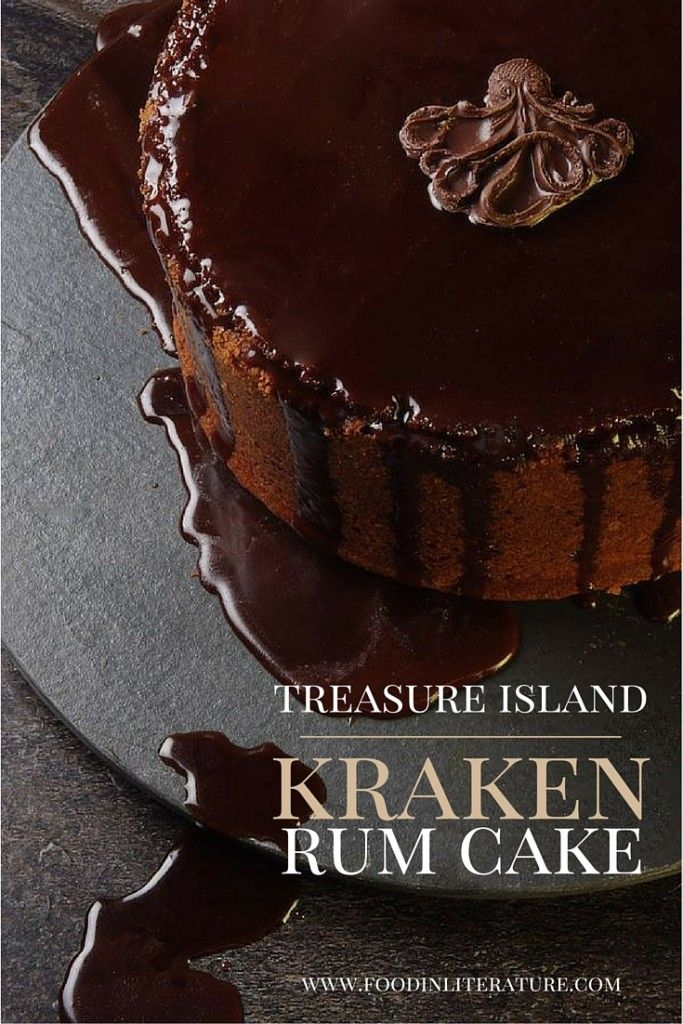 Treasure Island; Kraken Rum Pirate Cake - Food in Literature