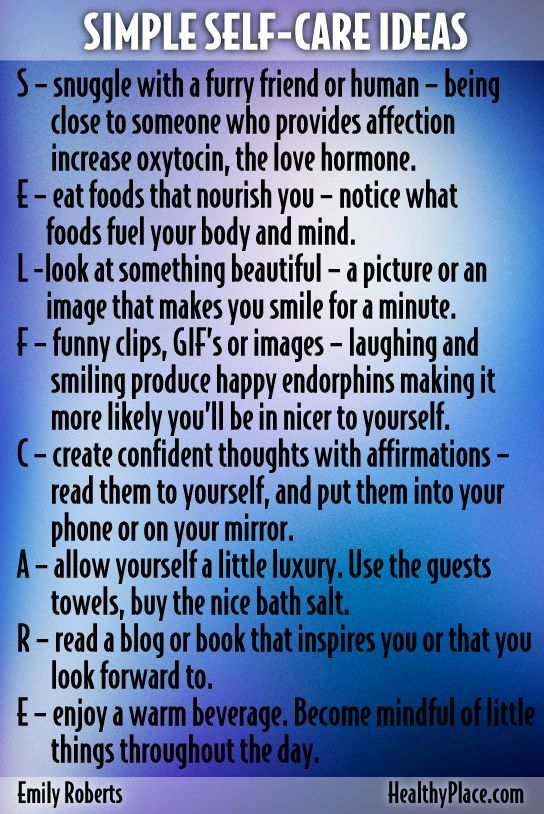 These small acts of self-care, some take less then a minute, can raise your self-esteem and make you happier. Have you tried any of these? www.HealthyPlace.com