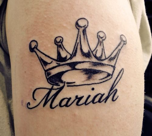 Crown Name Tattoo