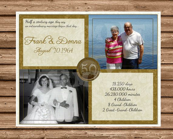 Gift Ideas For A 50th Wedding Anniversary: Best 25+ Golden Anniversary Gifts Ideas On Pinterest