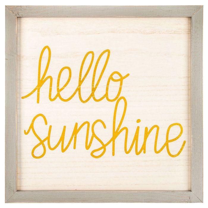 Hello Sunshine Wood Wall Decor