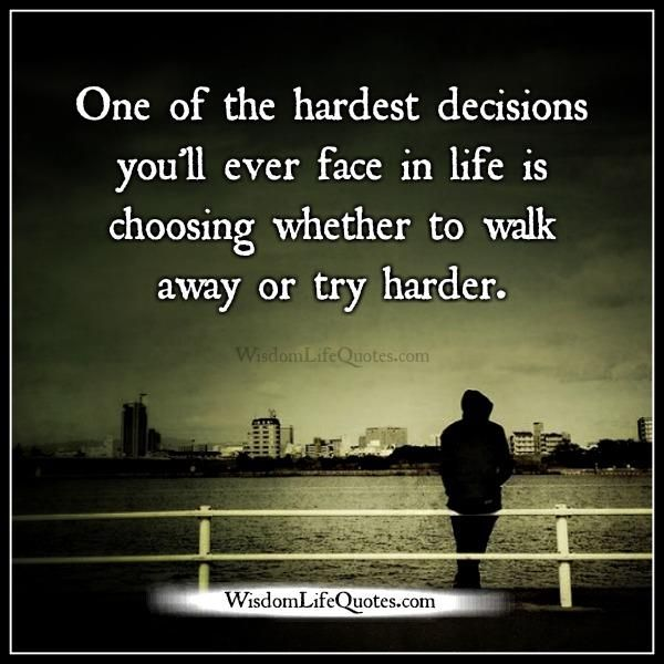 Sometimes walking away is standing up for yourself