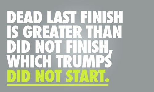 Dead last finish is greater than did not finish which trumps did not start