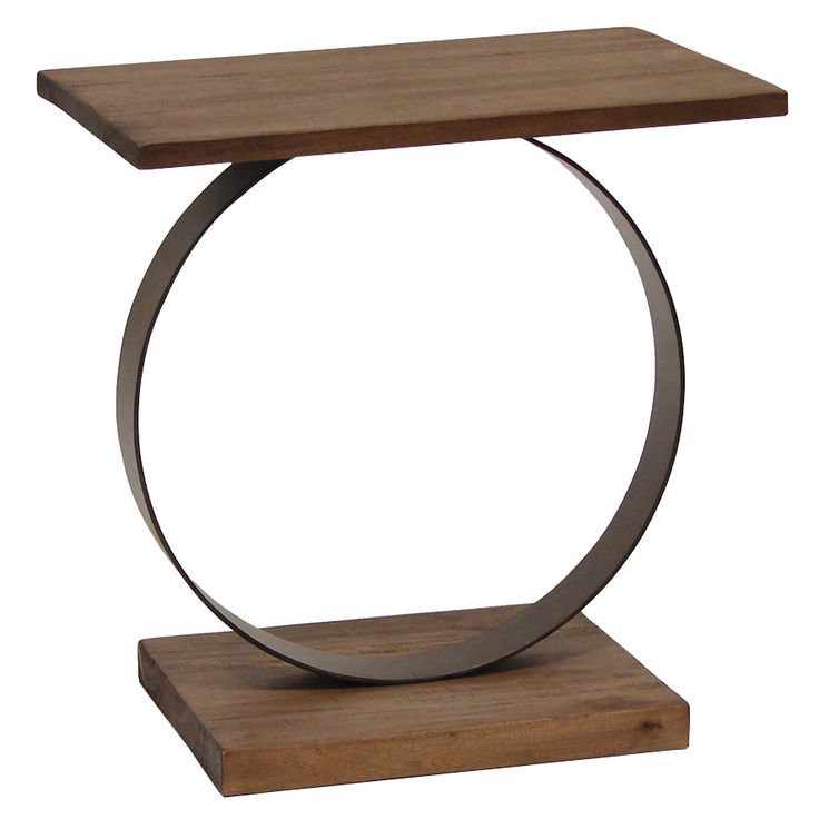 Camden Ring Side Table Rustic Umber @Zinc_Door