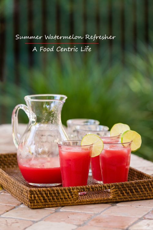 Refreshing, sparkling watermelon lime juice, perfect for summer!