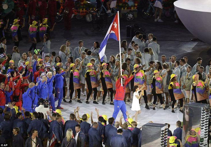 Cuba  Mijain Nunez Lopez carries the flag