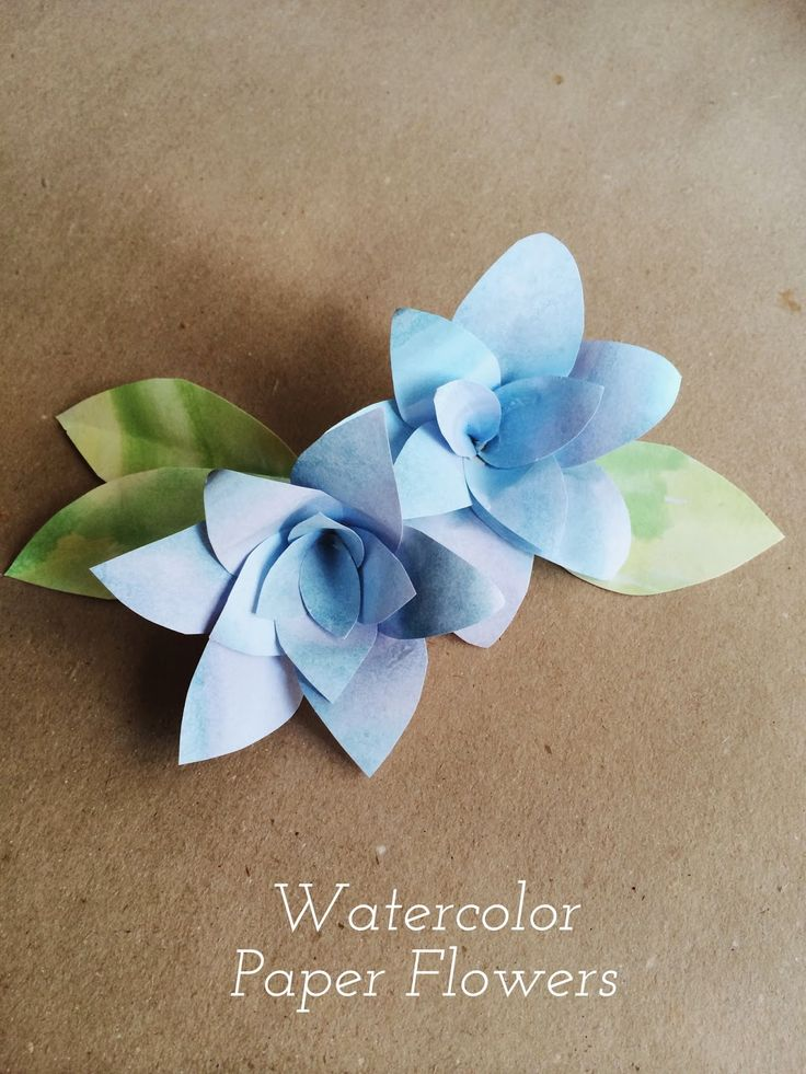 How To Make Watercolor Paper Flowers!