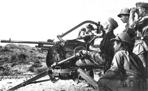Cannone-Mitragliera Breda da 20/65 mod.35 20mm, AA gun, Italy