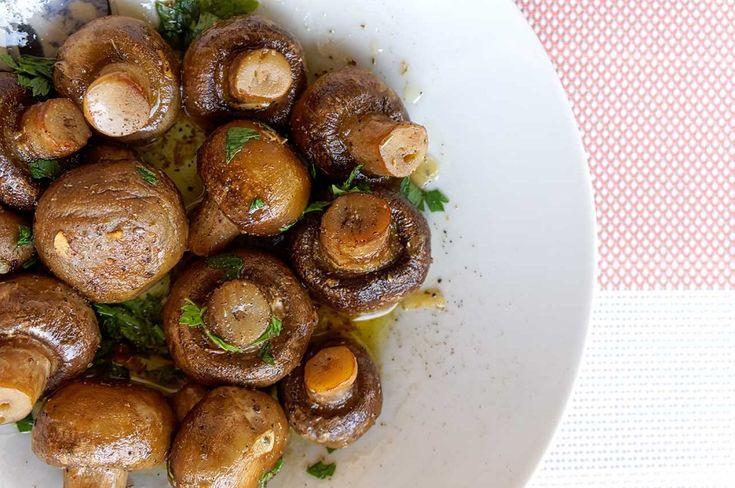 Μανιταράκια στο φούρνο βουτυράτα