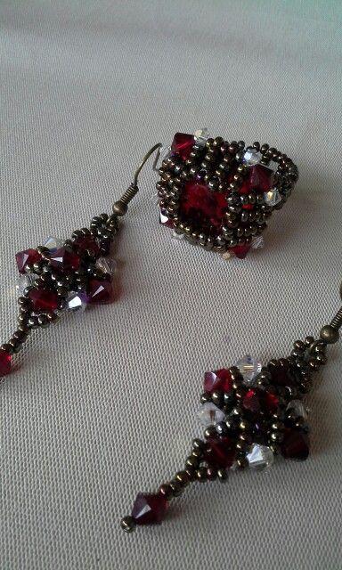 anillo y aretes, estilo barroco