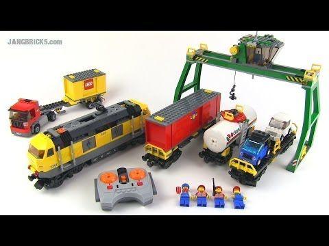 ▶ LEGO City 2010 yellow Cargo Train set 7939 Review! - YouTube