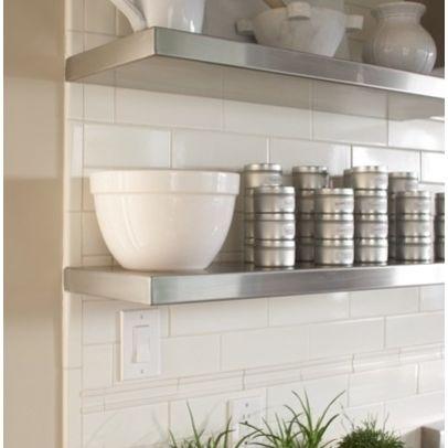 Bullnose Subway Tile Edging I Love The Stainless Shelves Decorating Kitchen