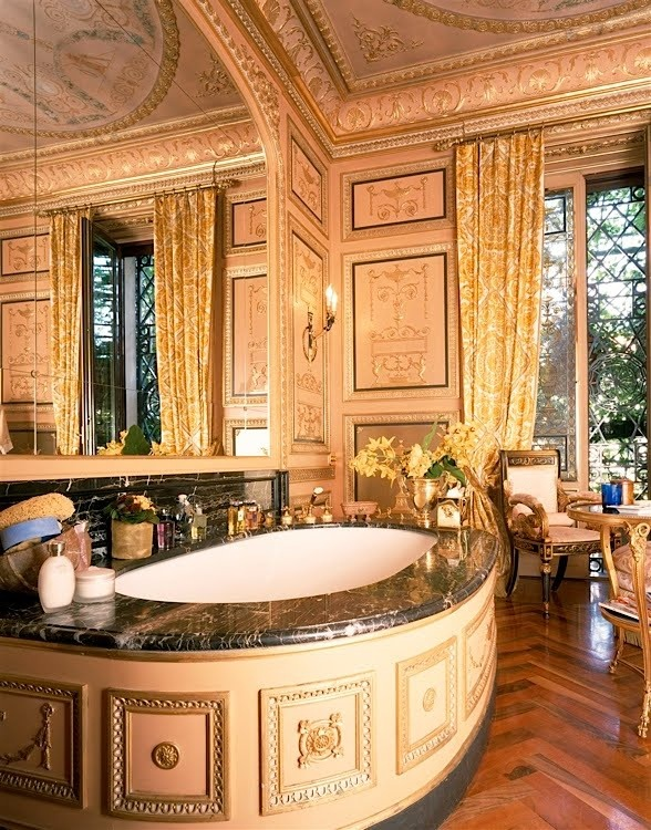 Donatella Versace Home Master Bath Secret Fan Of The Over The Top Design Indulgence