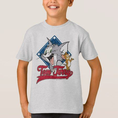 Tom And Jerry | Tom And Jerry On Baseball Diamond T-Shirt - click to get yours right now!
