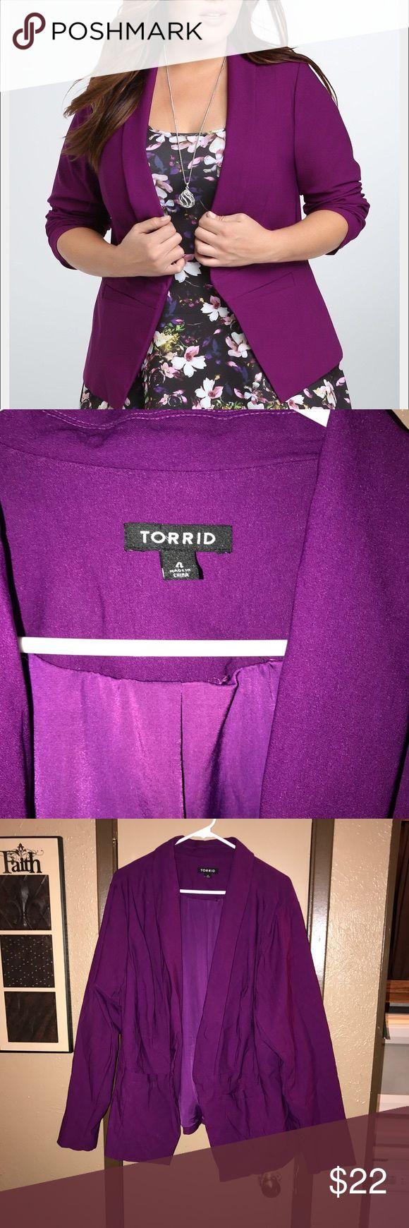 Torrid purple blazer Worn once! Gorgeous  Great condition torrid Jackets & Coats Blazers