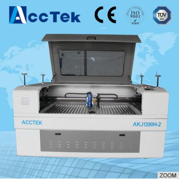 two laser heads New Type CO2 Metal and Non-Metal Laser Cutting 0.1-3mm steel Machine AKJ1390 for Sale