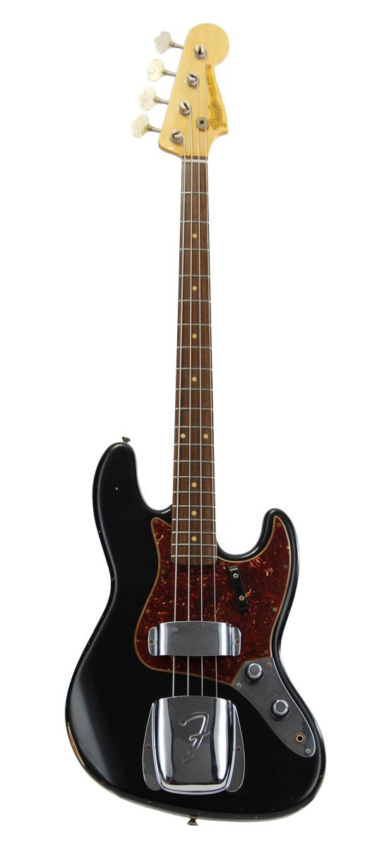 FENDER Custom shop 60 jazz bass relic rosewood black + etui - Basses - Basses Custom Shop | Woodbrass.com