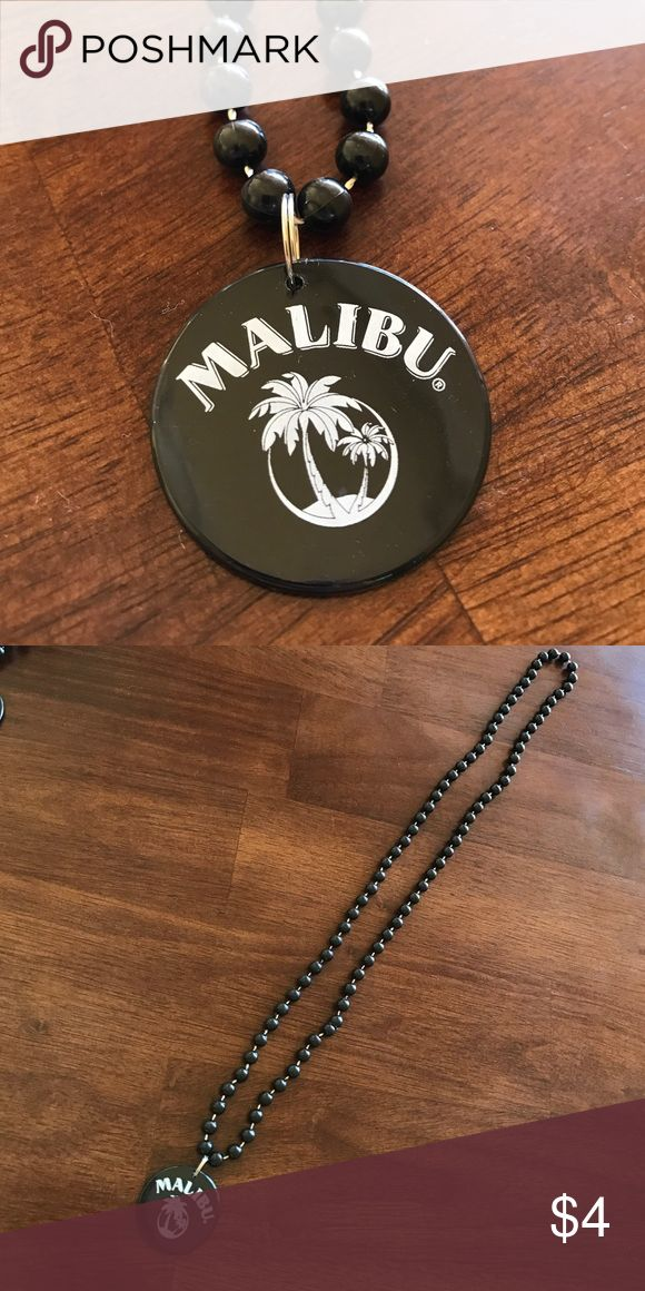 Malibu rum black bead necklace Malibu rum black bead necklace malibu rum Jewelry Necklaces